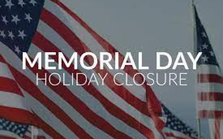 memorial day holiday closure